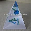 2013 caliente de ventas! Pirámide transparente de acrílico pisapapeles globo globo de cristal pisapapeles para regalo de empresa