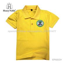 Polo simple personalizada color sólido suave algodón camiseta para niños