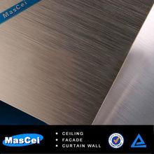 decorativo de la pared y los paneles de aluminio anodizado de la placa de metal para la construcción de fachadas