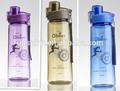 2014 nuevo estilo portátil de grado de alimentos de plástico de la botella de agua de la taza con tapa 750ml