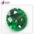 ronda cz gemas sueltas esmeralda cúbicos circonia esmeralda al por mayor precio por quilate