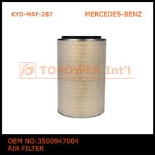 material de alta qualidade pesados caminhão filtro de ar para o benz