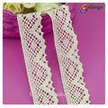 Guangzhou patrón de flores de tela de colores 100% adornos de encaje de algodón para cheongsam