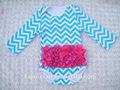 China wholesale roupa do bebê de manga comprida de algodão baby bodysuit/romper com cetim plissado
