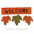 las hojas de otoño elegante jardín bienvenido regístrate tablero decorativo