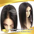 No hay maraña de calidad superior 5A Yaki peluca muda natural más barato del pelo humano del cordón lleno