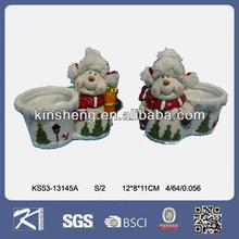boneco de cerâmica ornamentfor suporte de vela