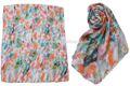 Wldl- mtr1221 100% polyester, plage, océan, motif. belles femmes hijab foulard