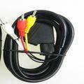 21 pines euroconector a 3 rca cable coaxial adaptador/cable av tv de alta calidad