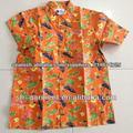 Algodón de los hombres impreso camisa hawaiana CP01