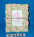 Polyresin marco de la foto en el diseño de las flores