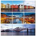 tríptico de la ciudad de fotografía para la pintura de la pared deocration