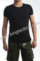 Prevalente apretado para hombre de manga corta de color verde oliva militar& camisa camisa de policía
