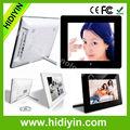 plataforma de publicidad pulgadas 8 visor de fotos digital sd tarjeta de plástico de metal pequeño de gran tamaño