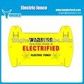 pp impreso doble señal de advertencia para cerca eléctrica