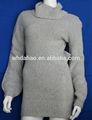 de alto cuello largo suéter de lana diseños para las señoras