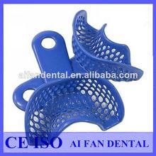 Dental aifan las ventas caliente de plástico- de acero de impresión dental bandeja