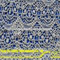 Yjc15552-1 bordado a mano diseños de flores de tela de encaje químicos al por mayor