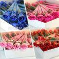 2014 nuevo regalo de boda/sorteos de la boda rosa jabón de la flor( hsd- wd- 1508)