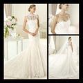 2013 sirena de la manera de grado superior apliques de encaje vestido sin mangas de la boda en línea 0011