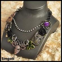 collar del collar del partido comunicado collares de moda 2014 de cristal antílopes tibetanos joya