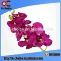 venta al por mayor nuevo diseño artificial solo las ramas de la pu de flores de orquídeas