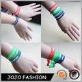 2014 pulsera de moda personalizada con nudos de la cinta elástica pulsera