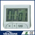 Digital de plástico reloj temporizador/de reloj y temporizador