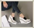 Ft-213-11 venta caliente ronda blanco a prueba de agua del dedo del pie heels12cm las mujeres cuñas de moda los zapatos