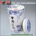 Cerâmica de chá design latas, chá da lata redonda, lata de ar comprimido com chá