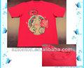 100% personalizado de poliéster sublimada lindo liso rojo t- shirt