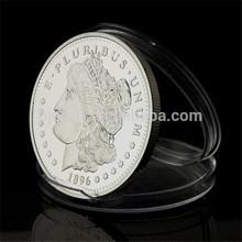 los estados unidos de plata plateado estatua de la libertad de la moneda