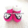 2014 moda crochet bebé niñas zapatos para la venta