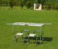 Conjunto Mesa de Camping/Campaña con Sillones Plegable y Portátil Exterior/Mueble de Jardín Patio y Cámping*10040