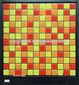 oro y rojo mosaico de cerámica de cerámica para la pared y el piso