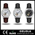 fábrica de promoção da moda quartzo marca suíça de relógios de couro mens moda relógios