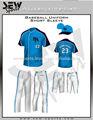 Boy's uniforme de béisbol, la parte superior de béisbol, seco de béisbol en forma uniforme