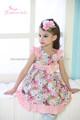 Últimas Hermoso vestido de niña de flores de tul, de alta calidad de la ropa del cabrito