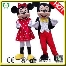 HI en71 divertido personaje de dibujos animados mickey mouse traje de la mascota