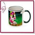 Grado A mug de sublimación / taza para sublimar con color llanta y mango
