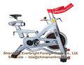 bicicleta de cardio, gimnasio equipments, bancos y soportes