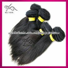 Pelo paquetes de pelo baratas rectas españolas