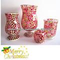 2014 nuevo rojo mosaico de vidrio adornos de navidad