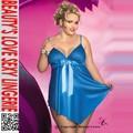 muñeca sexy halter al por mayor de lycra azul camisa de la mujer de tamaño más sexy babydoll ropa interior para mujeres gordas
