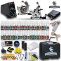 2 máquina de tatuaje de energía y agujas supplywith 40 en tintas principiante nuevo tatuaje kit