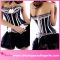 venta al por mayor y tanga a juego del cordón up corset