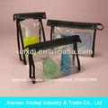pvc transparente bolsa de coser para los cosméticos