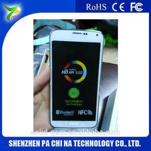 2014 nueva llegada s5 i9600 teléfono inteligente mtk6582 quad core 5.1 pulgadas 1280x720 perfect3g teléfono