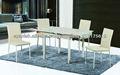 barato 2013 promoción de alta calidad de vidrio rectangular mesa de comedor extensible