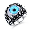 Alta calidad bisutería ojos anillos malignos para unisex GJ431L
